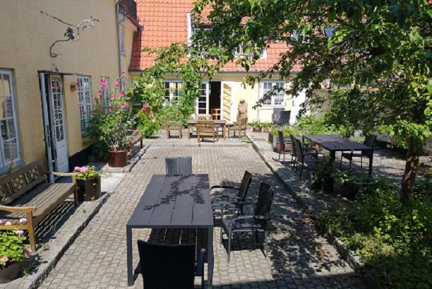 Gårdhaven på Dragør Bibliotek