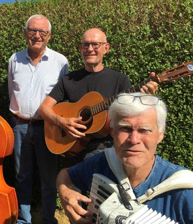 Foto af de 3 mænd i orkestret Gråbrødrene