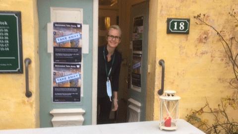 Indgangsdøren til Dragør Bibliotek, Vestgrønningen 18