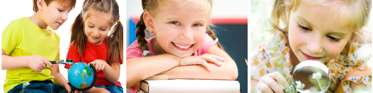 Fotos af skolebørn