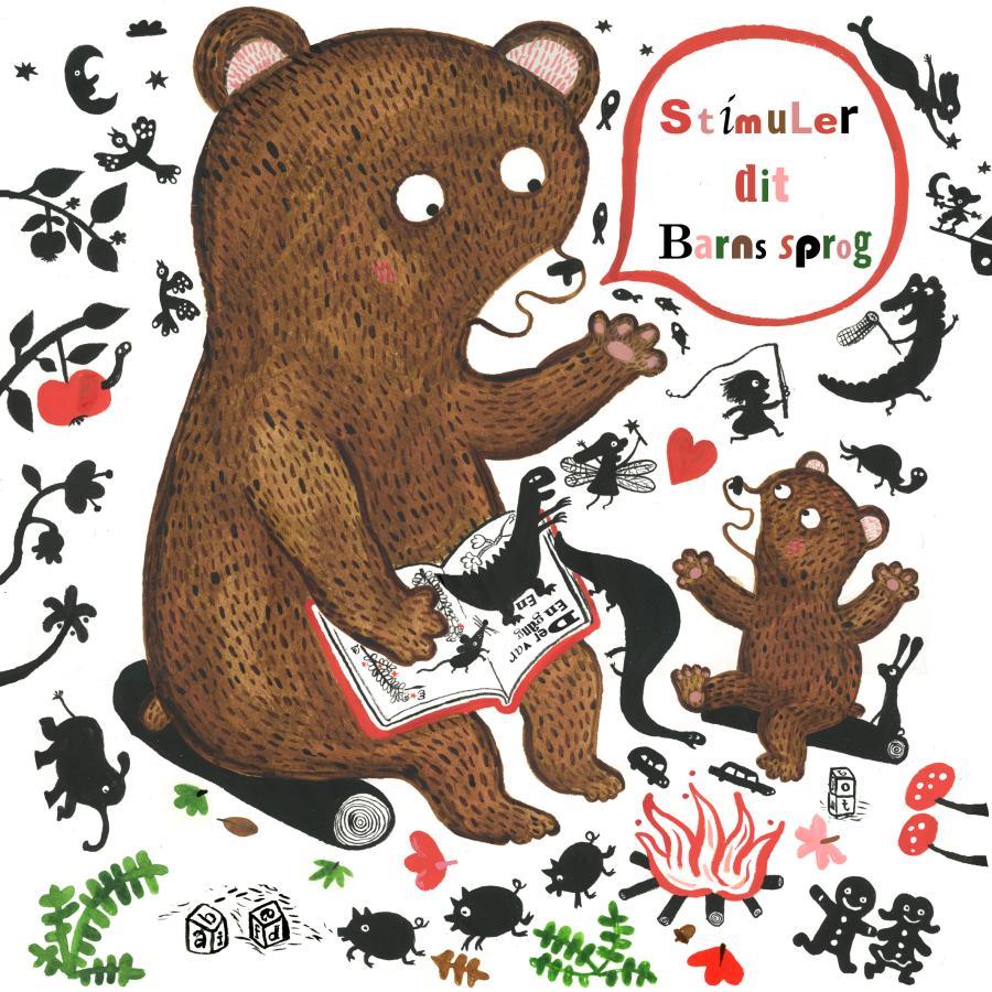Forsiden af folderne Stimuler dit barns sprog