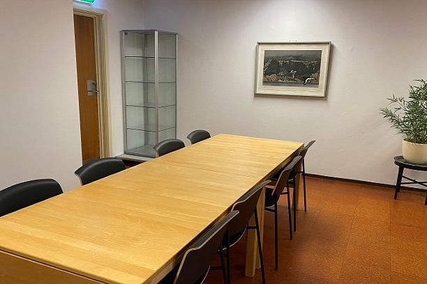 Møderummet Tænke-Tanken på Biblioteket i Hollænderhallen